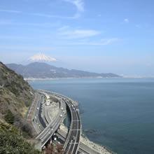 富士山を望む駿河湾桜えび