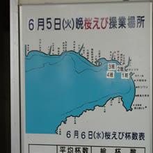 桜えびの漁場